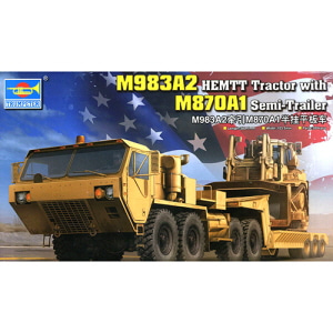 [TRU01055] 1/35 M983A2 HEMTT Tractor with M870A1 Semi-Trailer